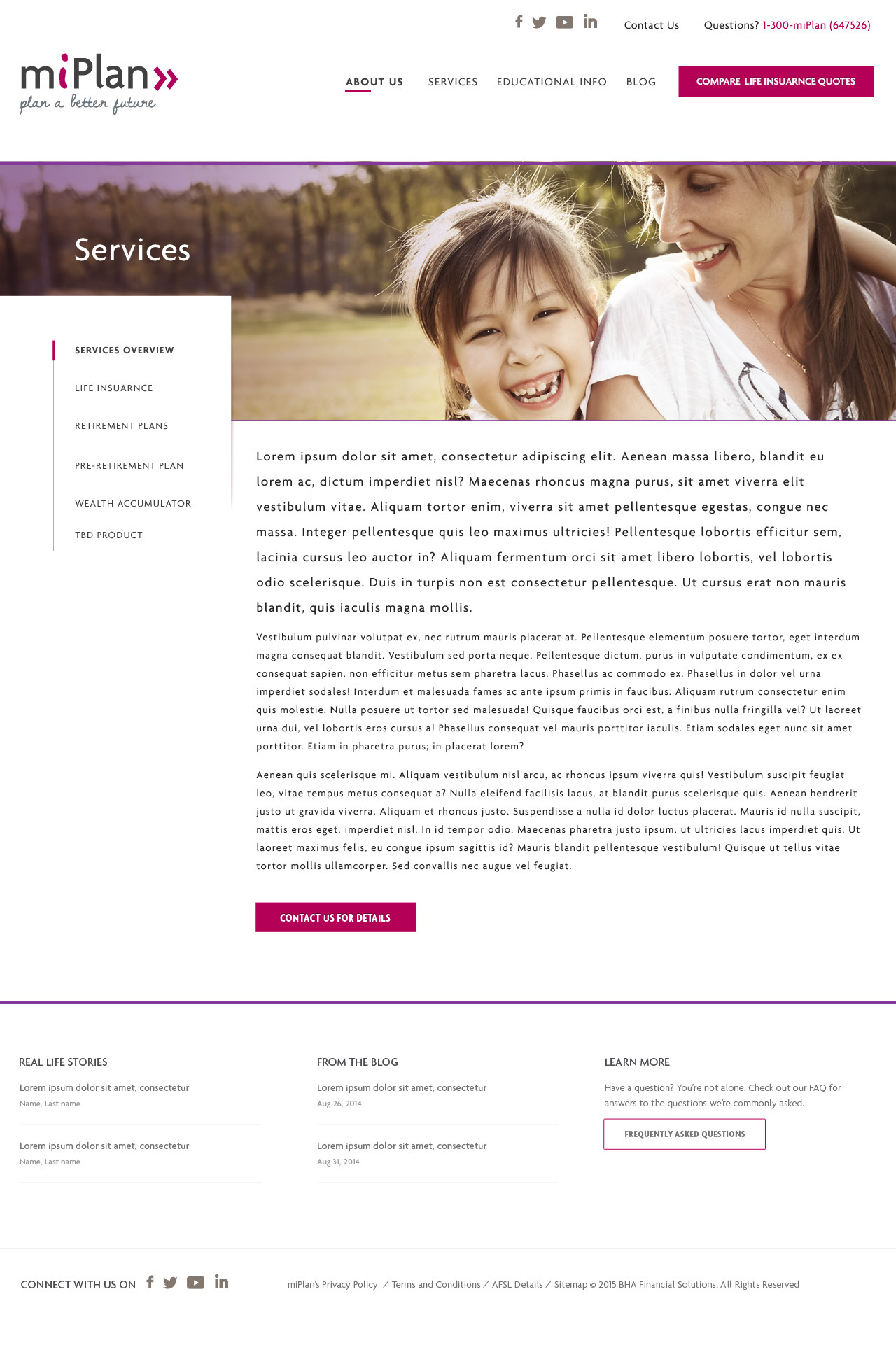 MiPlan, life Insurance quote web app