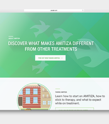 Amitiza Pharmaceutical Website Redesign
